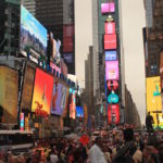 Time square bondé